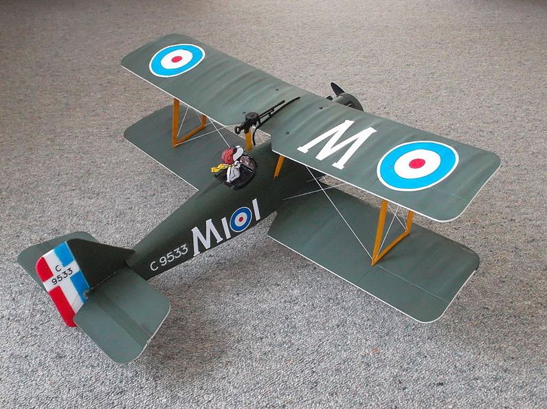 Radio-controlled model of S.E.5a W.W.1 aircraft constructed from an E-flite ARF kit